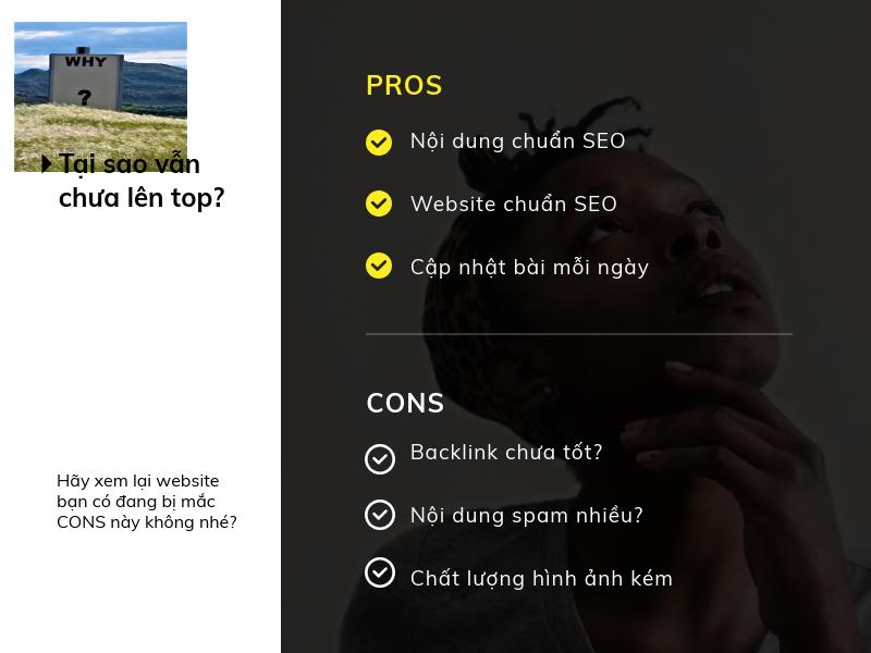 Vì Sao Nội Dung Website Chuẩn Seo Vẫn Không Lên Top ?